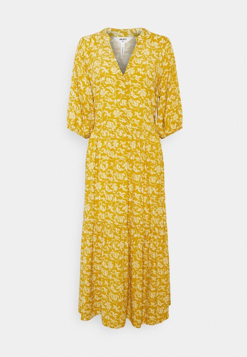 Object Tall - OBJSOPHIA DRESS TALL - Shirt dress - honey mustard