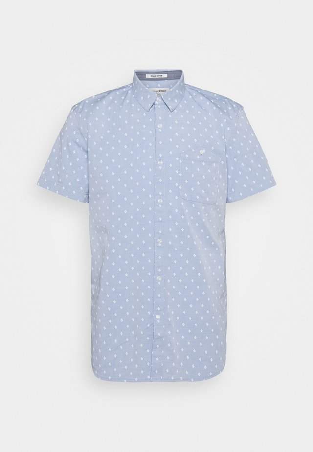 PATTERNED - Camisa - blue white triangle