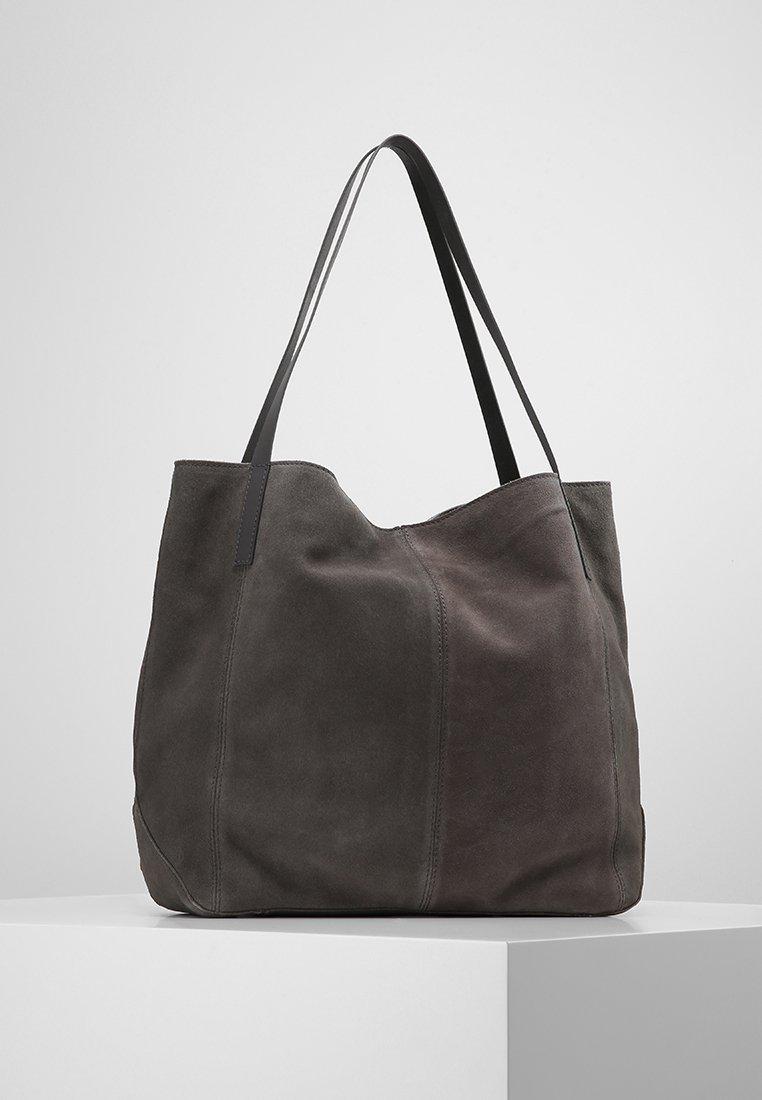 KIOMI - LEATHER - Tote bag - anthrazit