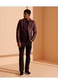 Superdry - Leather jacket - fig - 0
