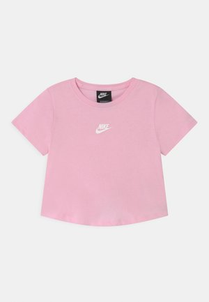 REPEAT CROP - Print T-shirt - pink foam/white