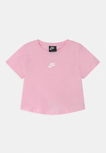 REPEAT CROP - Camiseta estampada - pink foam/white