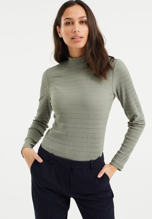Long sleeved top - olive green