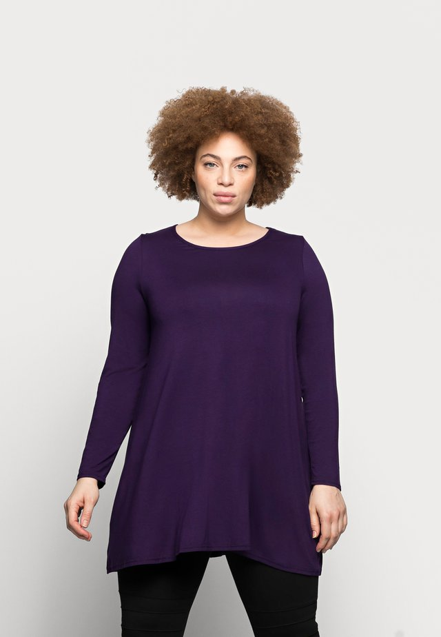 LONG SLEEVE TUNIC - Top s dlouhým rukávem - purple