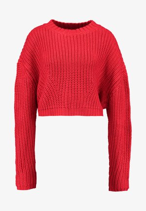 LADIES WIDE OVERSIZE  - Sweter - firered