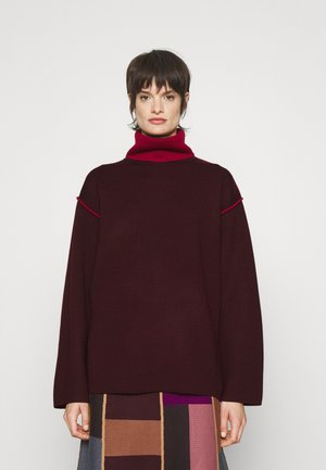 PIPING DETAIL JUMPER - Sweter - iron red