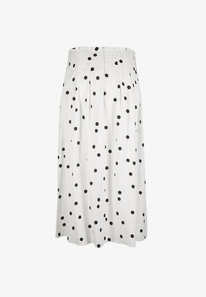 POLKA DOT BLACK & WHITE - A-line skirt - white