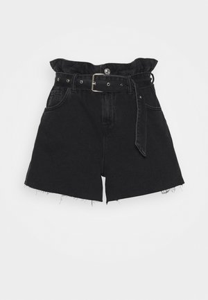 Denim shorts - washed black