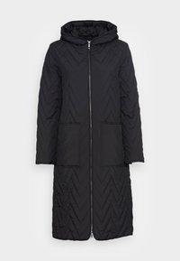 SLFNORA QUILTED COAT - Klassisk kåpe / frakk - black
