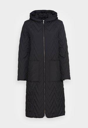 SLFNORA QUILTED COAT - Classic coat - black