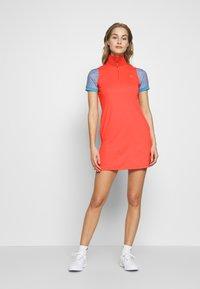 J.LINDEBERG - ELSA SET - Žerzejové šaty - tomato red - 1