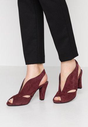 ARABELLA - Peeptoe heels - wine