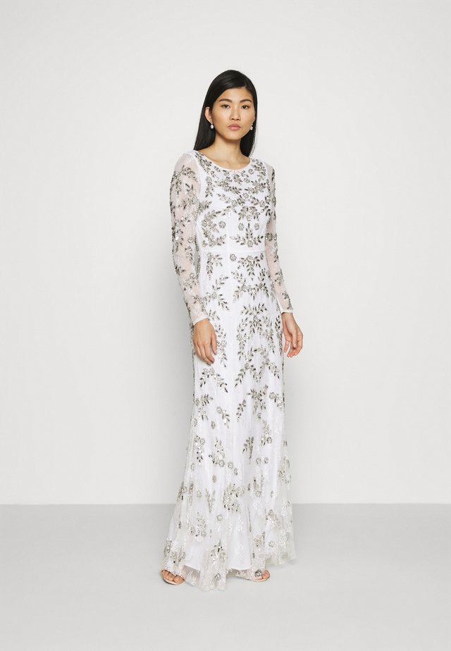 ALL OVER FLORAL DRESS - Suknia balowa - ivory