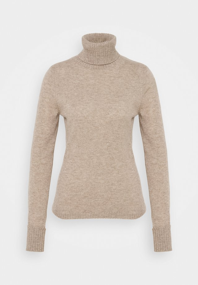 ROLLNECK - Trui - natural sand