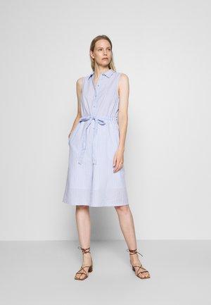 DRESS STYLE WITH STRIPES - Vestido camisero - blue