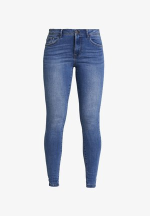 VMTANYA PIPING - Skinny džíny - medium blue denim