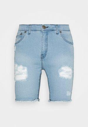 REY  - Denim shorts - blue