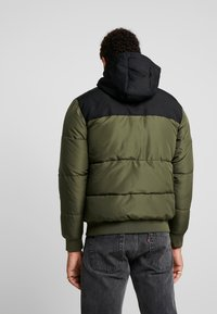 Only & Sons - ONSBOSTON QUILTED BLOCK HOOD - Giacca invernale - forest night - 2