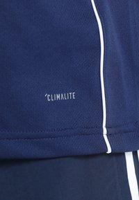 adidas Performance - AEROREADY PRIMEGREEN JERSEY SHORT SLEEVE - T-shirt z nadrukiem - drak blue/white - 6