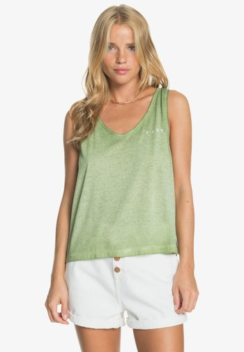 NEED A WAVE A  - Top - vineyard green