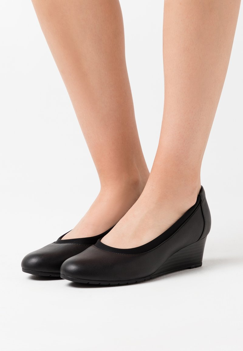 Clarks - MALLORY BERRY - Wedges - black