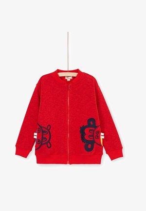 Zip-up hoodie - heather red