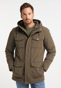 DreiMaster - Winter coat - militär oliv - 0