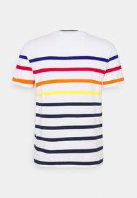 Polo Ralph Lauren - CUSTOM SLIM FIT STRIPED CREWNECK T-SHIRT - Print T-shirt - white multi - 1