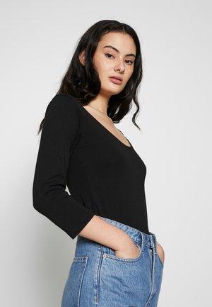 BSLABAN SCOOP NECK - Maglietta a manica lunga - black