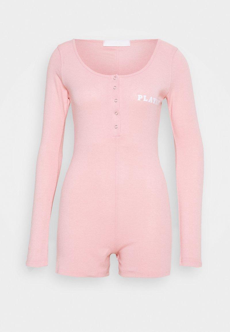Missguided - PLAYBOY PLAYSUIT - Pijama - pink