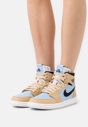 AIR  1 ZOOM AIR COMFORT - High-top trainers - psychic blue/black/sesame/white