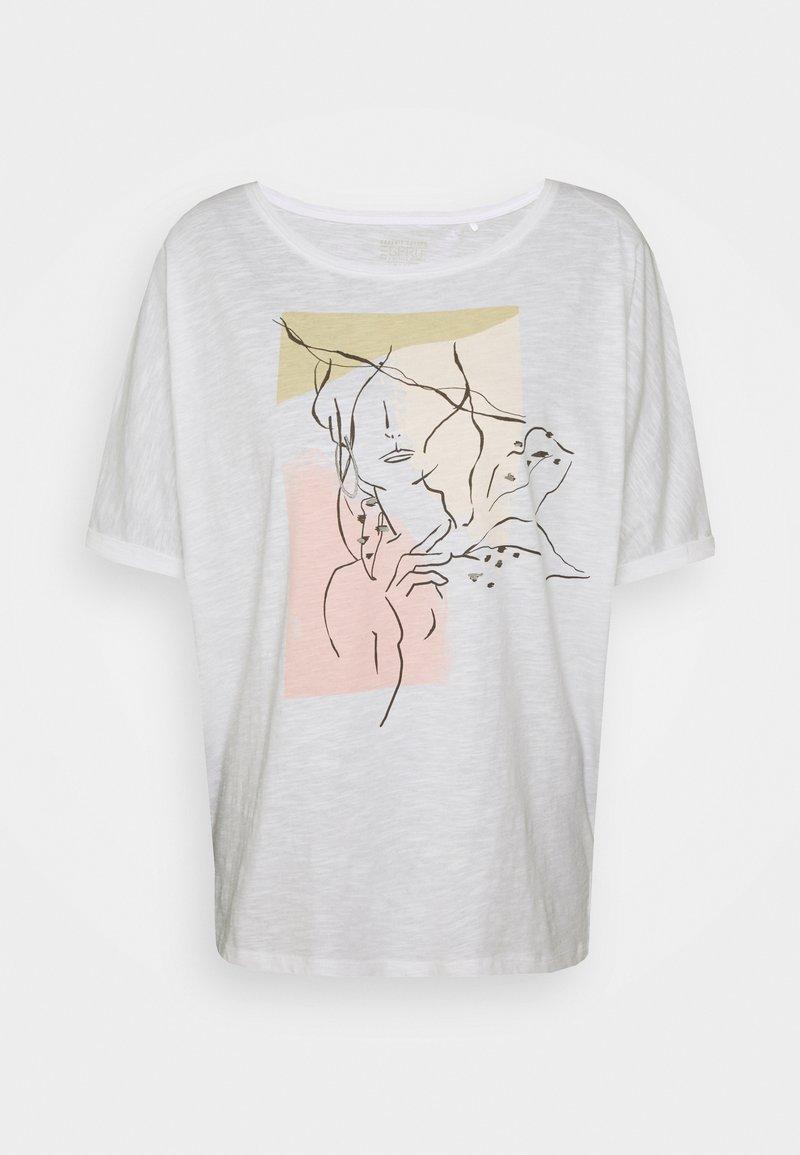 Esprit - TEE PRINT - Print T-shirt - white