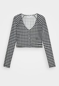 blac/grey check