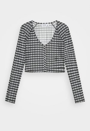 NICOLE - Long sleeved top - blac/grey check