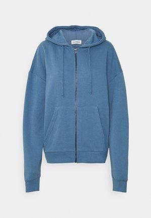 Mikina na zip - blue