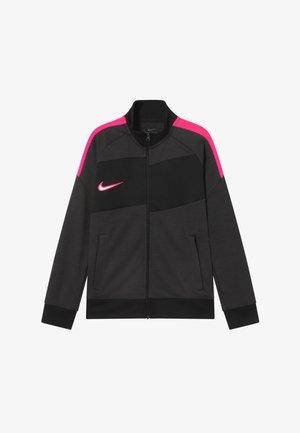 DRY ACADEMY  - Training jacket - dark smoke grey/hyper pink