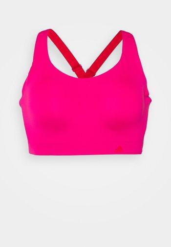 ULTIMATE BRA - High support sports bra - team real magenta/vivid red