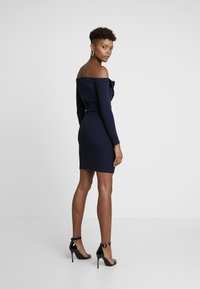 Missguided - BELTED BARDOT FOLDOVER MINI DRESS - Shift dress - navy - 3