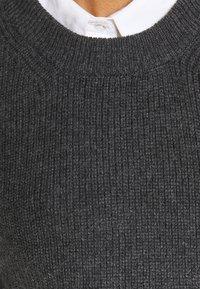 ONLY - ONLPARIS LIFE VEST - Jumper - dark grey melange - 6
