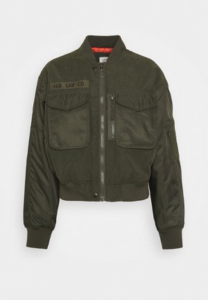 SATEEN  - Bomber Jacket - olive green