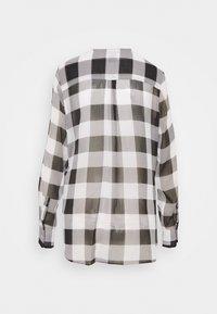 DKNY - WRAP TOP - Blouse - black/white - 1