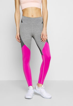 NOVELTY - Leggings - iron grey/active fuchsia/black