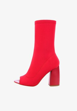 QUARDE - High heeled ankle boots - rot