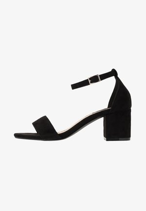 LOW BLOCK  - High heeled sandals - black