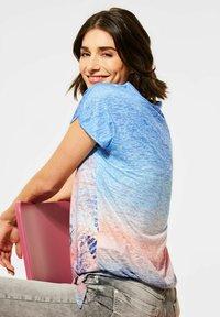 Cecil - MIT BURN-OUT EFFEKT - Print T-shirt - blau - 2