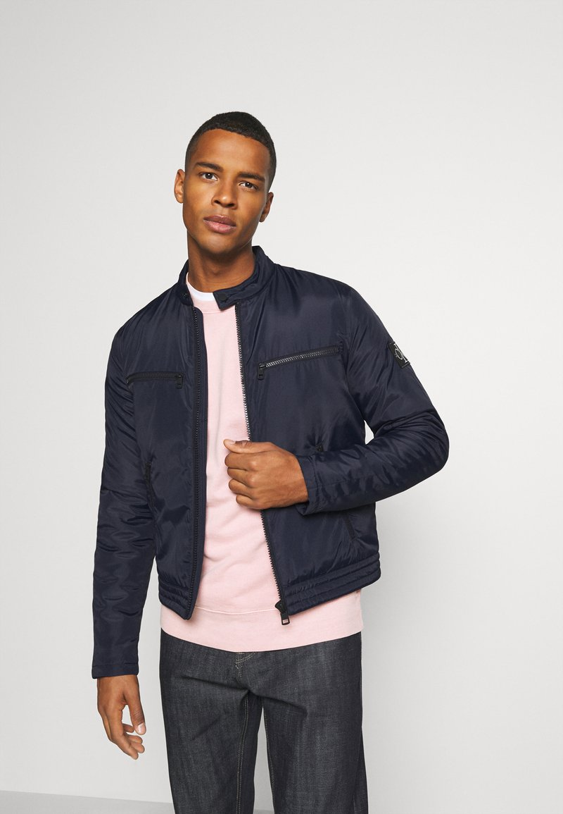 Calvin Klein Jeans - PADDED MOTO JACKET - Light jacket - night sky