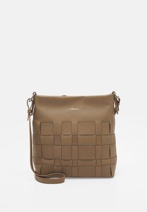 ODITA SLIM SHOULDER BAG - Across body bag - brown