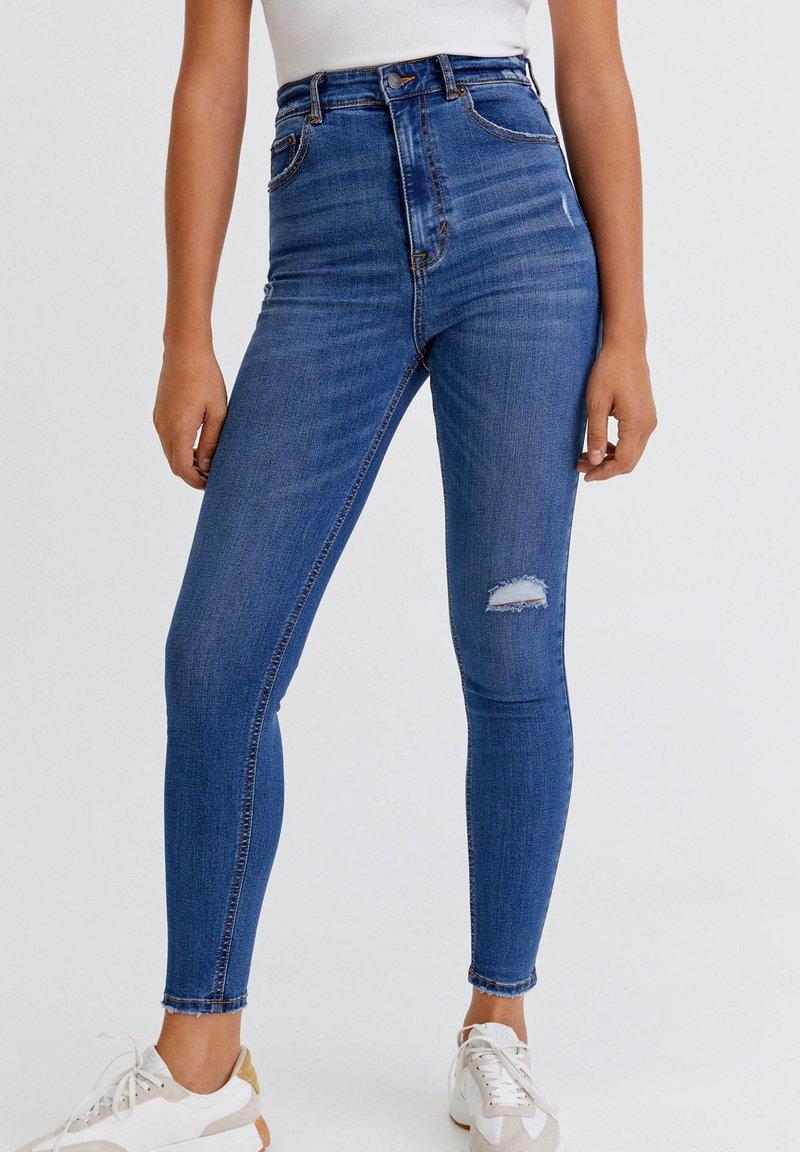 PULL&BEAR - Jeans Skinny Fit - dark blue denim