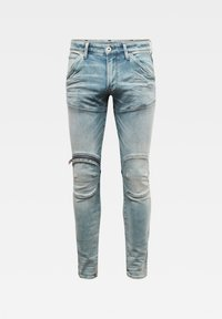 G-Star - 5620 3D ZIP KNEE SKINNY - Jeans Skinny Fit - sun faded scanda blue - 6