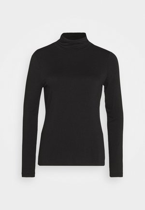 LAYERING NECK - Longsleeve - true black